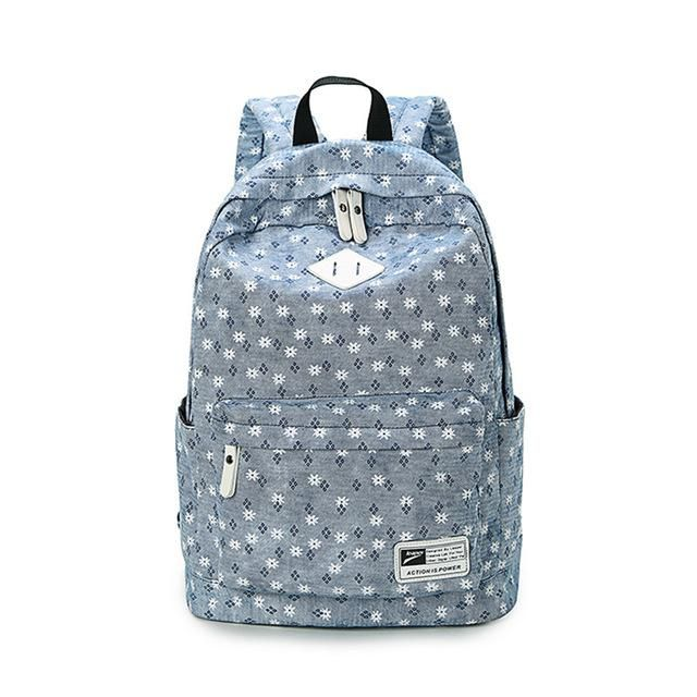 Brand Design Fresh Cute Book Bags Floral High Quality Canvas Printing Backpack  Women School Backpacks for f223cdbb27