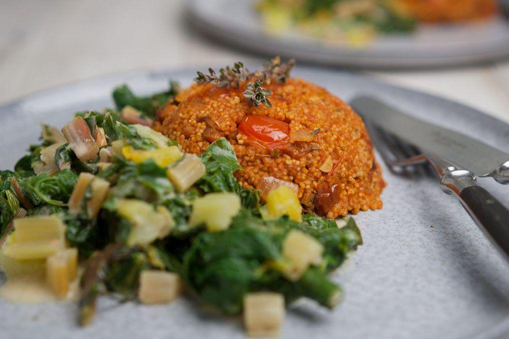 Hirse Risotto An Zitronen Mangold Rezept Mit Bildern Lebensmittel Essen Rezepte Risotto