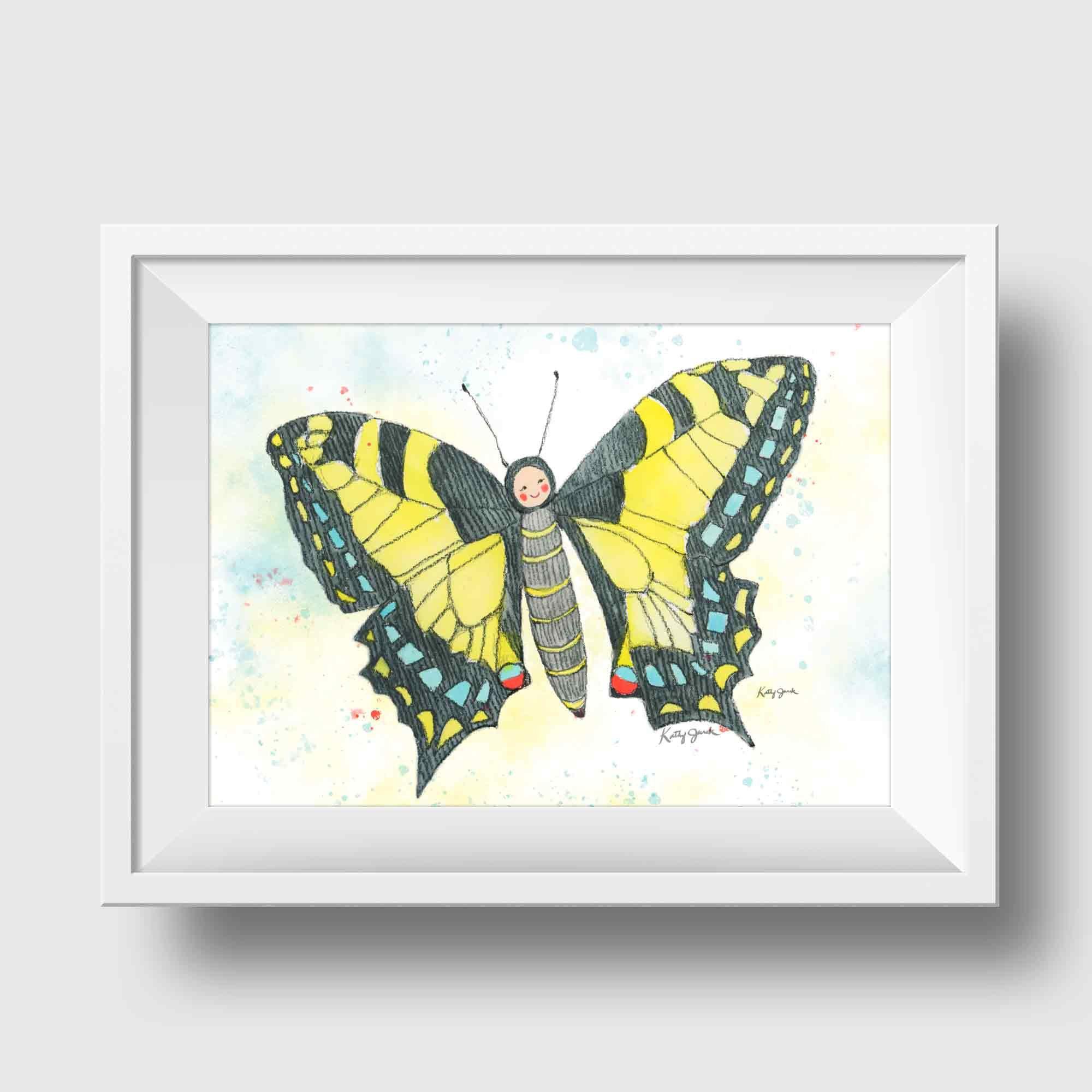 Swallowtail Erfly Wall Art Yellow Decor