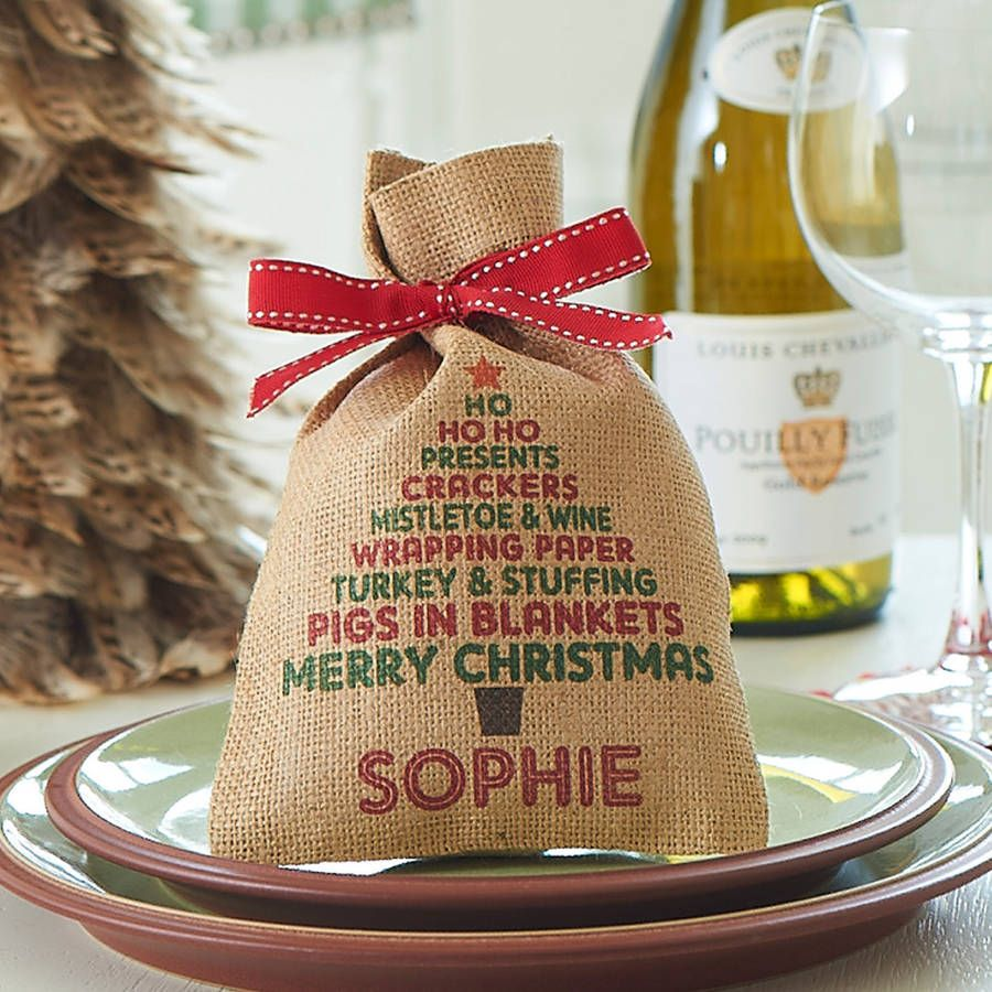 personalised christmas tree mini christmas sack by harrow green notonthehighstreetcom