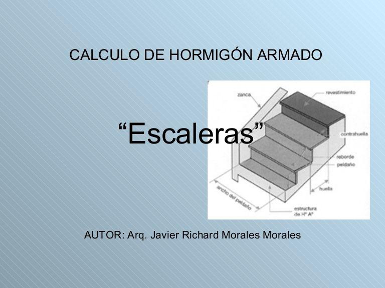 Calculo de hormig n armado escaleras escaleras for Calculo escalera metalica
