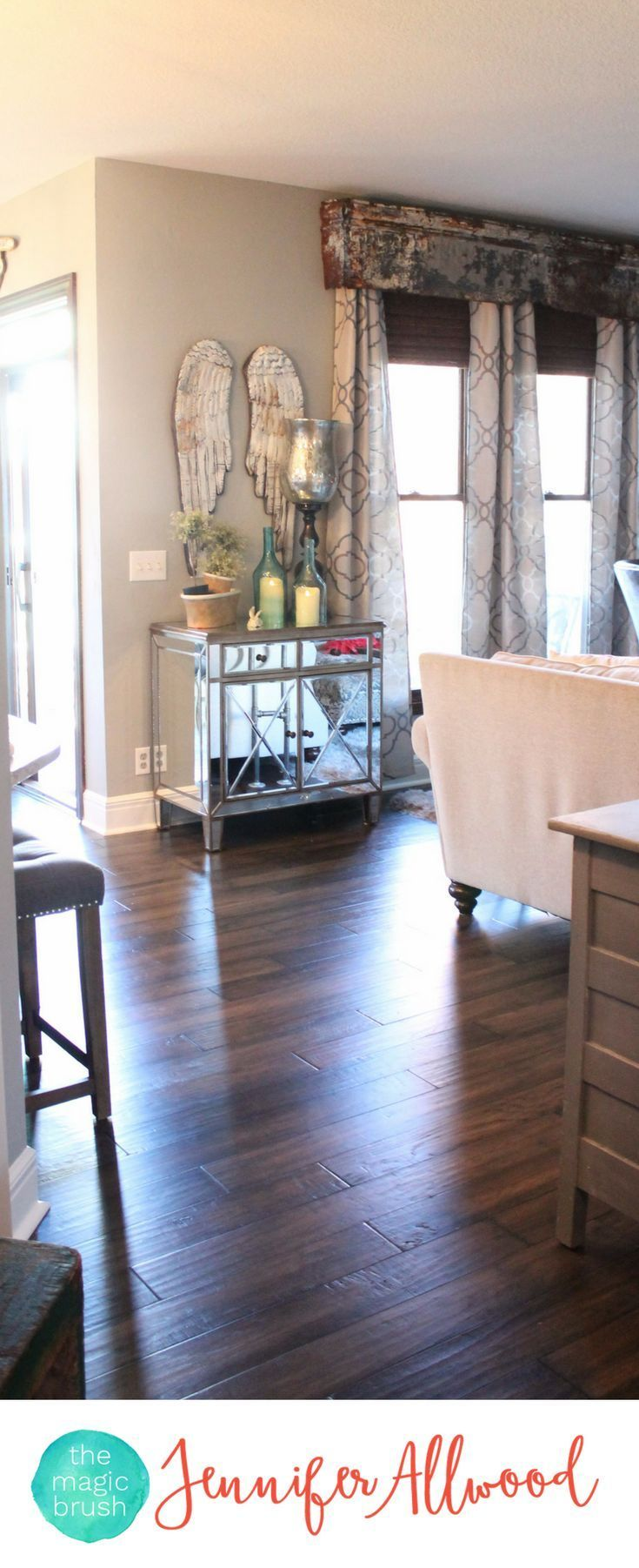 Info's : Replacing Golden Oak Hardwood Floors with new beautiful gray/brown hardwood floors for a total house makeover | Magic Brush | Hardwood Flooring Ideas and Hardwood Floor Colors #hardwood #floors #diy #homedecor