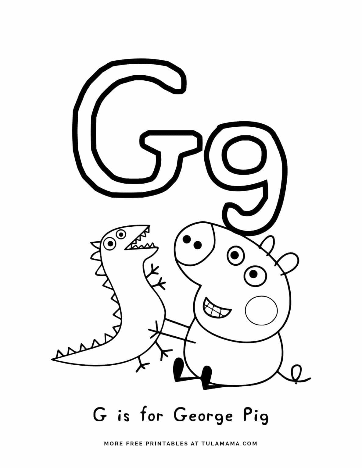 Free Printable Peppa Pig Abc Coloring Pages For Preschoolers Abc Coloring Pages Peppa Pig Coloring Pages Abc Coloring [ 1536 x 1187 Pixel ]