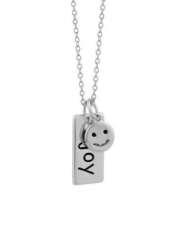 Look at this zulilyfind sterling silver emoji joy inspirational sterling silver emoji joy inspirational pendant necklace aloadofball Choice Image