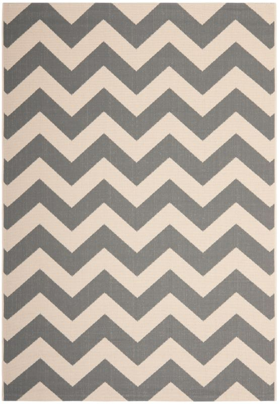 Safavieh Cy6244 5 Courtyard X 8 Rectangle Synthetic Loomed C Grey Beige Rugs Area