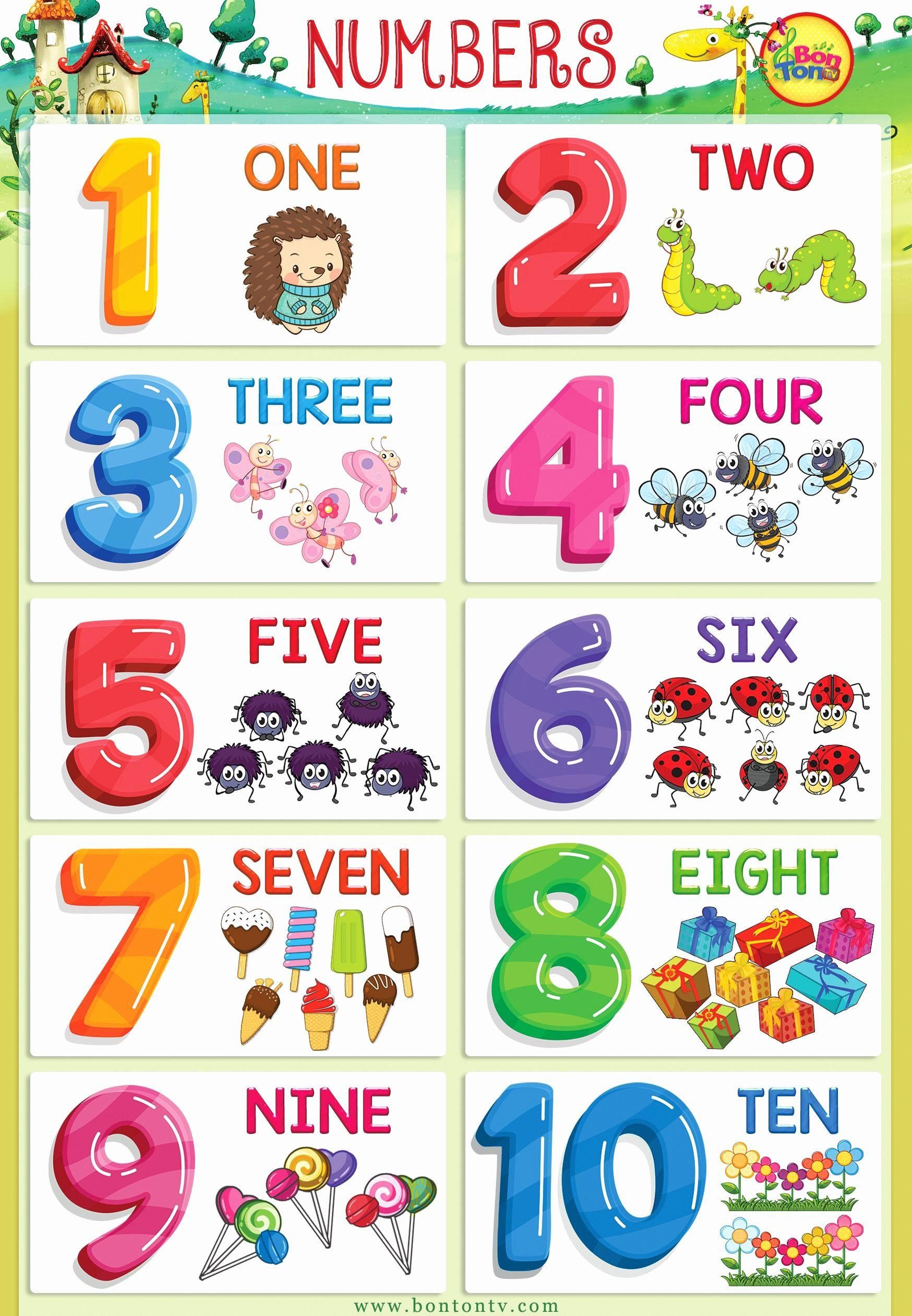 Coloring Learning Numbers Luxury Numbers Poster Numbers 1