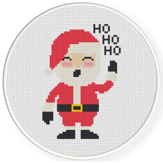 Charts Club Members Only: Happy Santa Claus Cross Stitch Pattern ...