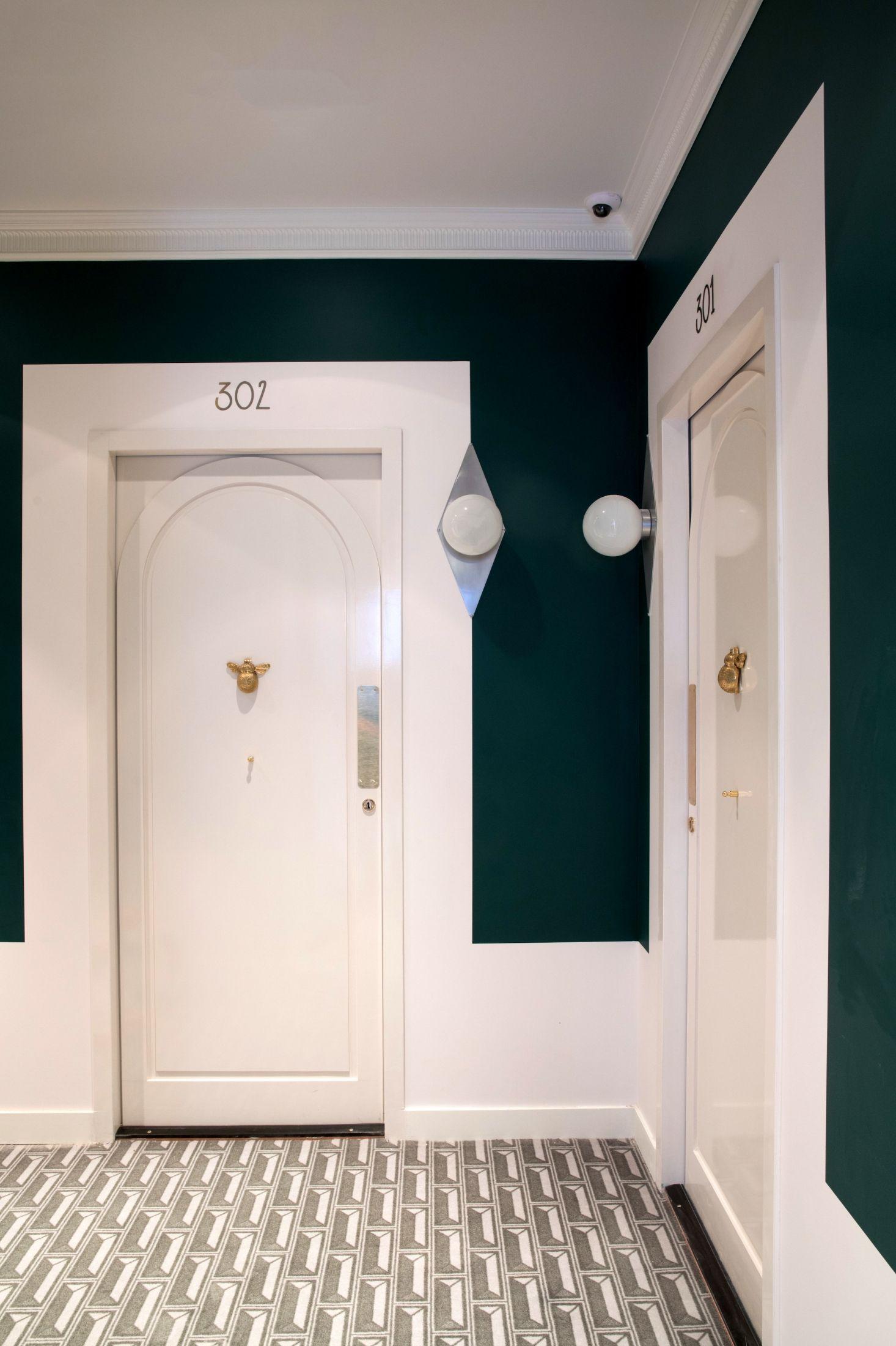 Hotel Des Grands Boulevards Paris Dorothee Meilichzon Hotel Hallway Hotel Doors Design Hotel Door