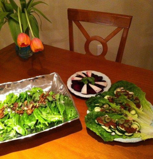 """""""Romantic raw vegan dinner for 2"""". Looks really refreshing!"""