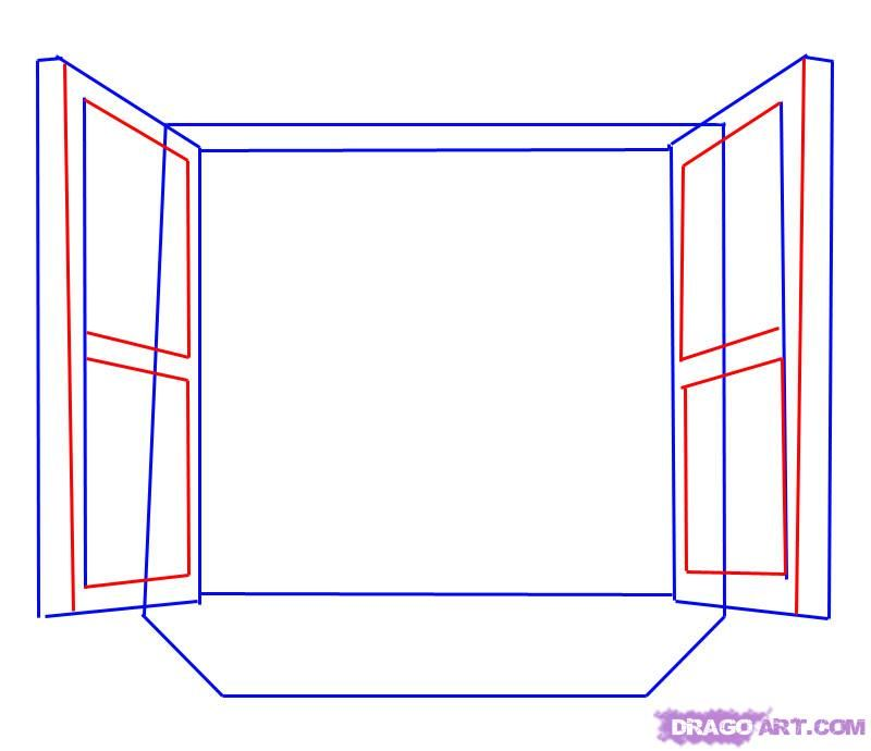 how to draw a window step 3 painting ideas pinterest window