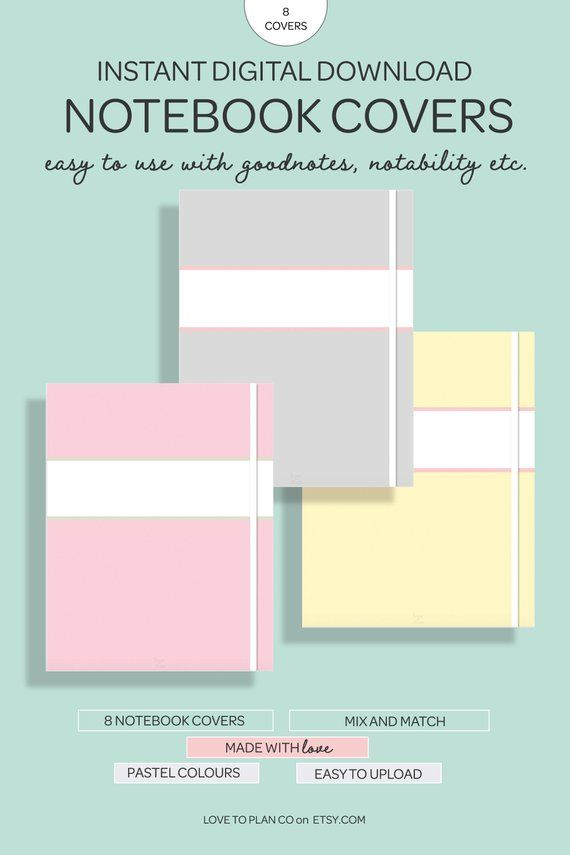 Digital Covers Pastel Digital Notebook Cover Goodnotes