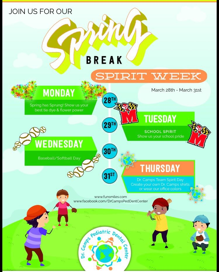 Join us as Spring Break has arrived and join us for our