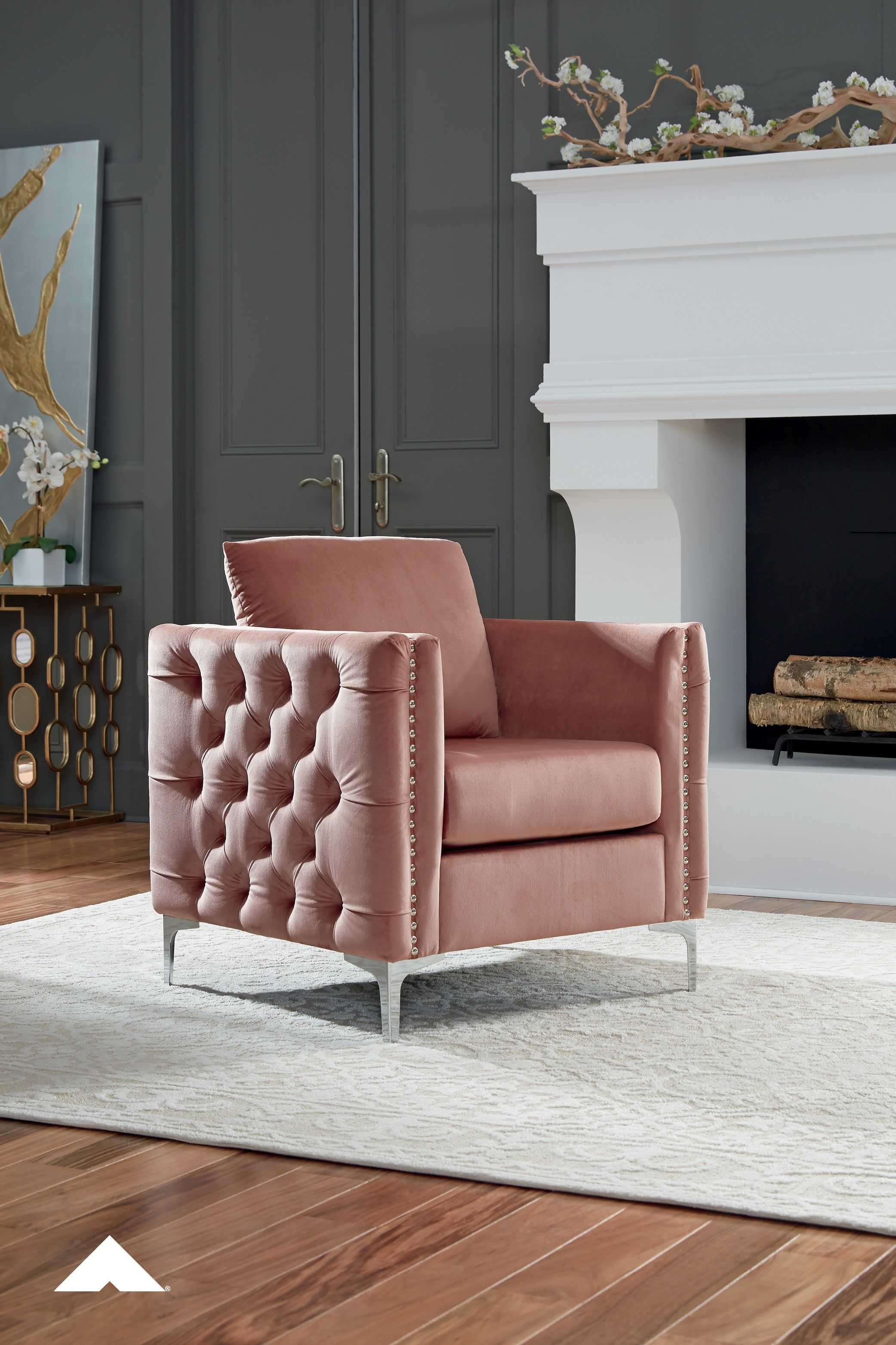 Lizmont Plush Pink Accent Chair By Ashley Furniture Attention