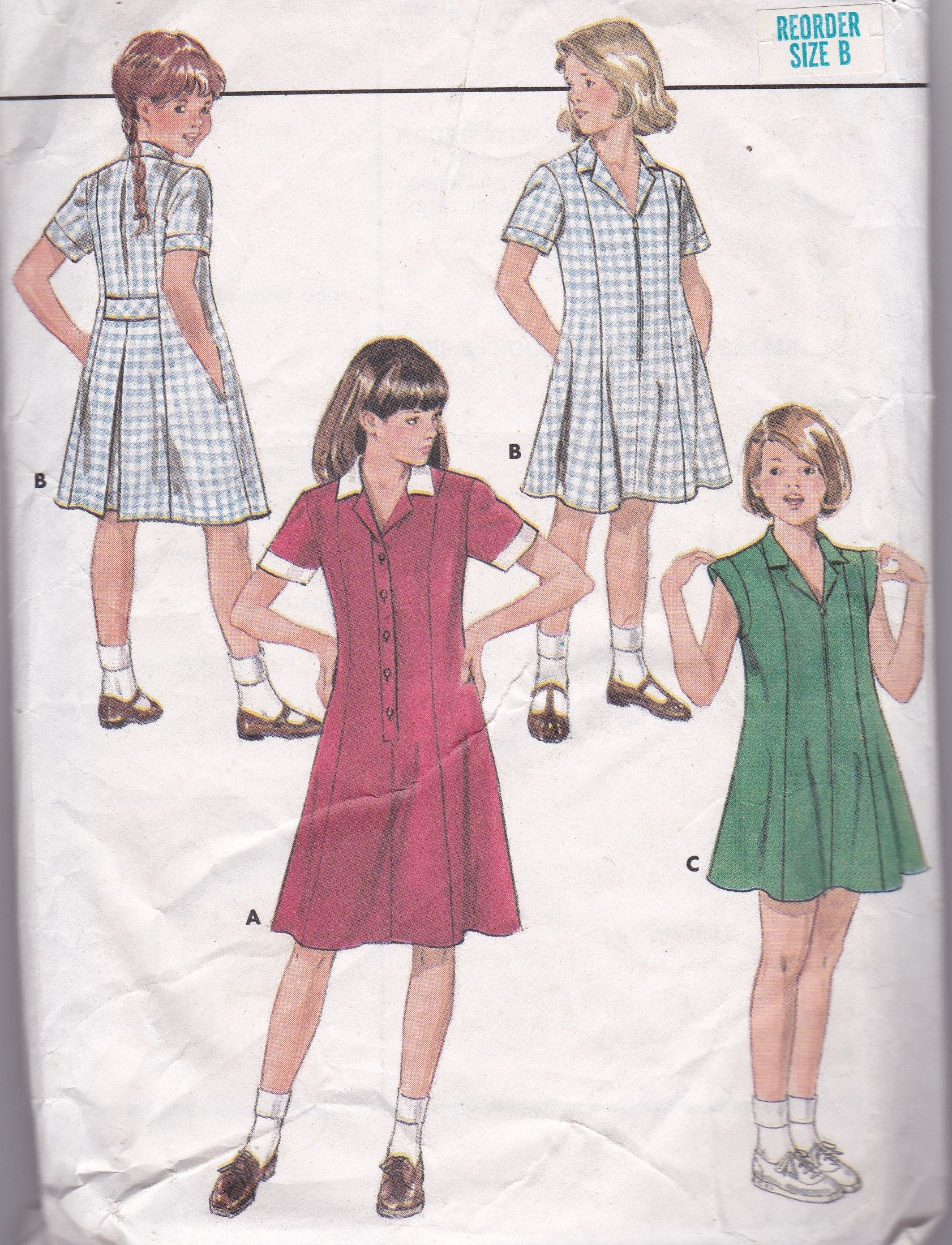 School Uniform Pattern School Dress Pattern Butterick 993