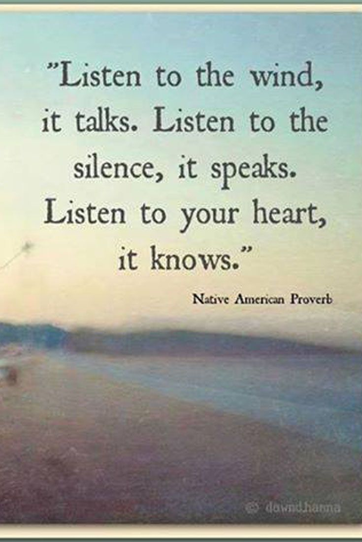 Inspirational Quote About Listening To The Silence Of The Heart