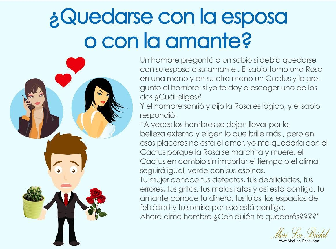Frases De Amor Para Amantes 2: ¿Quedarse Con La Esposa Y Con La Amante? ¿A Quien Eliges