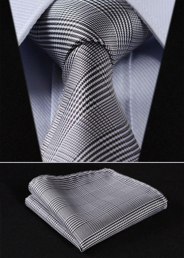 Cat Houndstooth Classic Men Silk Tie Woven Jacquard Neck Ties