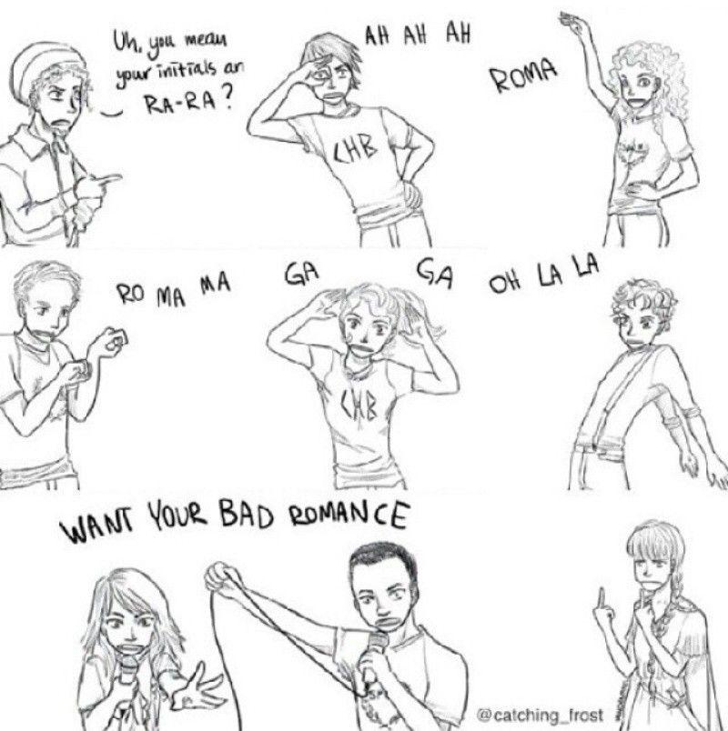 Want Your Bad Romance Percy Jackson Funny Jackson Bad Percy Jackson