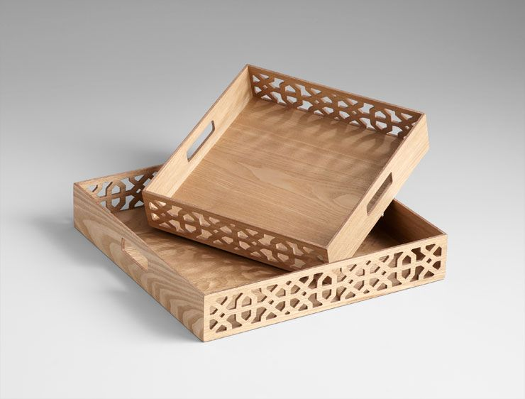 Large Decorative Serving Trays New Xoxo Lattice Trays  Trays Wood Tray And Decorative Objects Design Decoration