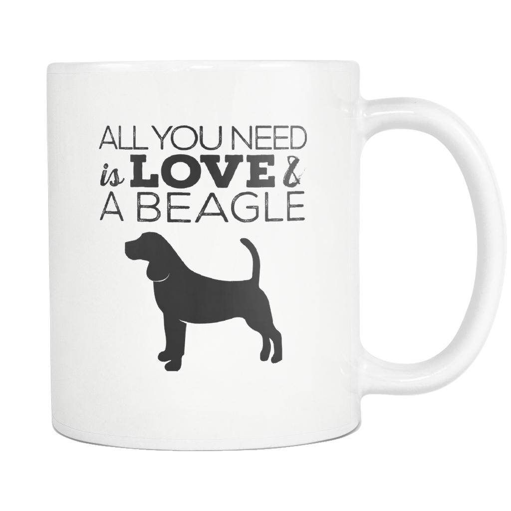 Beagle gifts All you need is love and a beagle mug