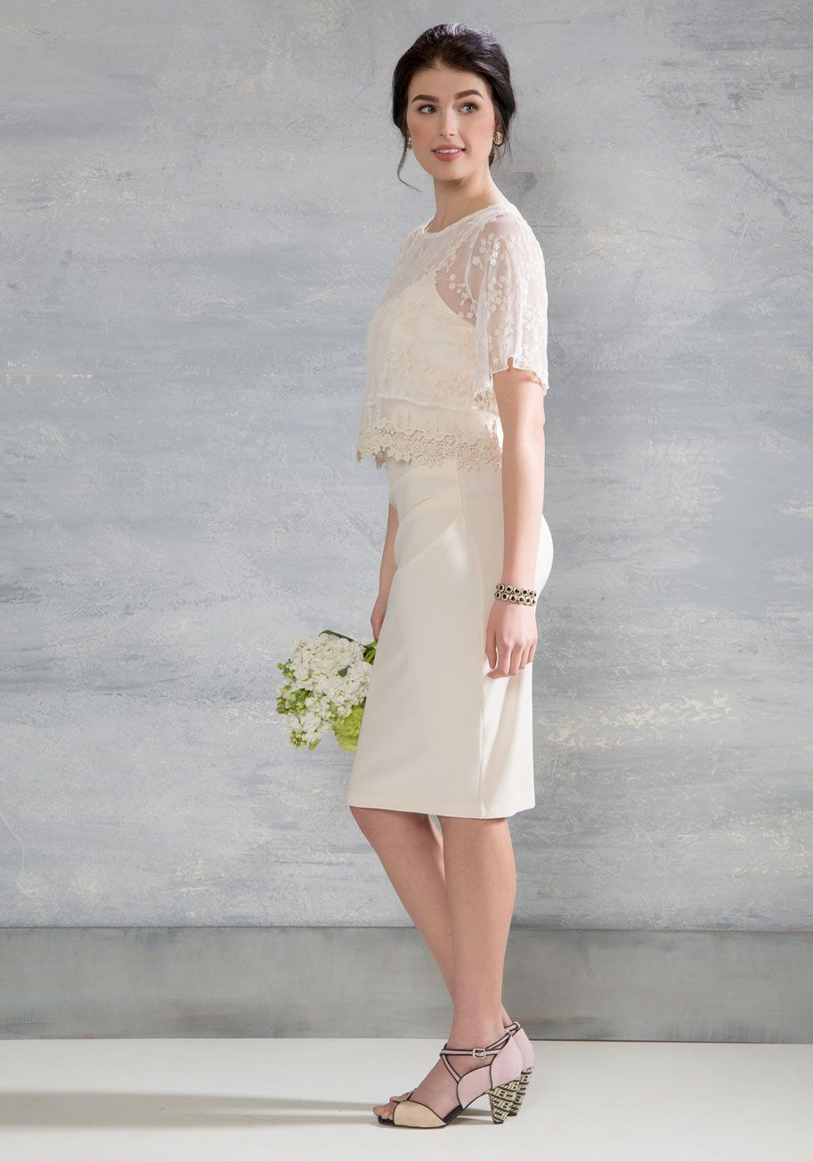 Quickie wedding ideas  Moxie Beyond Measure Linen Shirt Dress  Ivory Cream wedding and