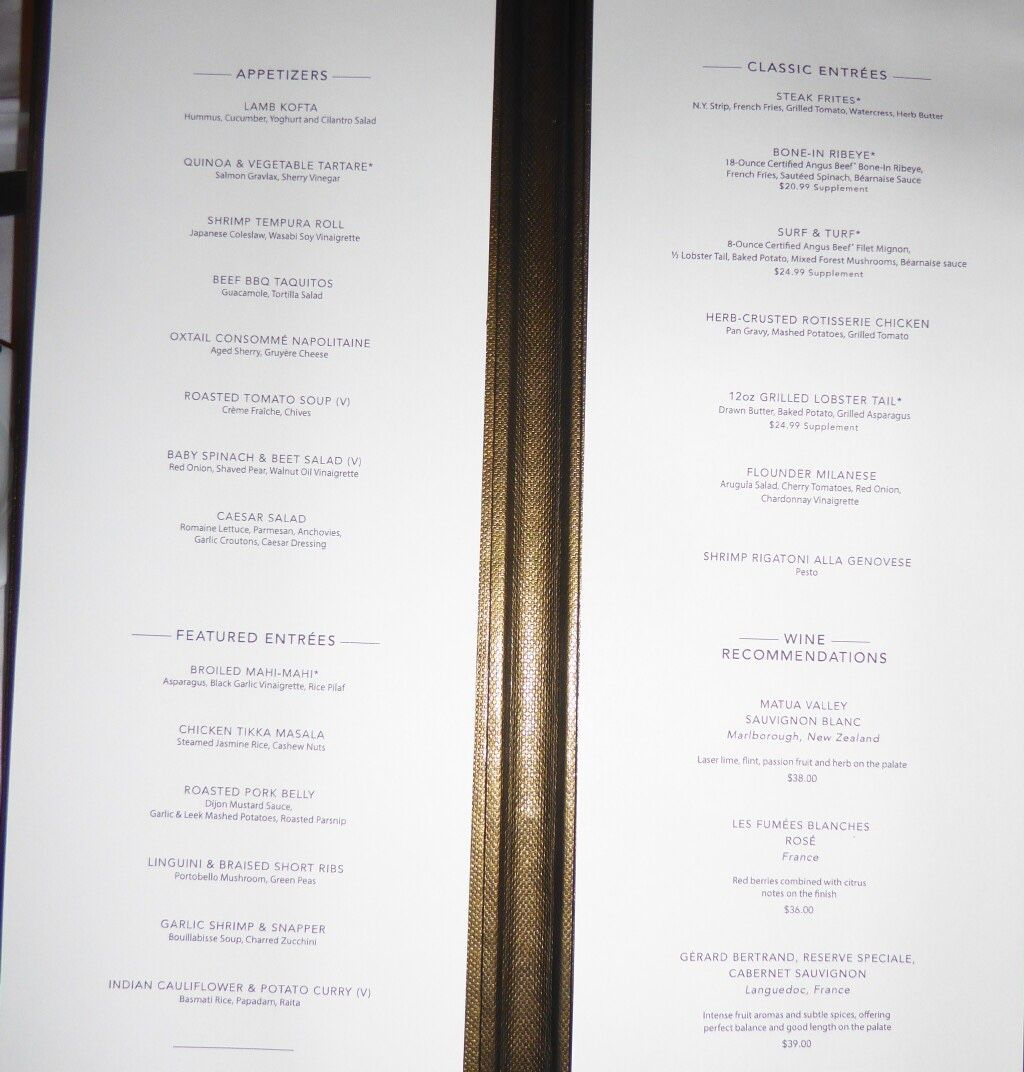 Norwegian Jewel La Cucina Menu Ncl Dawn Mdr Menus Places I D Like To Go Dawn Cruise Critic