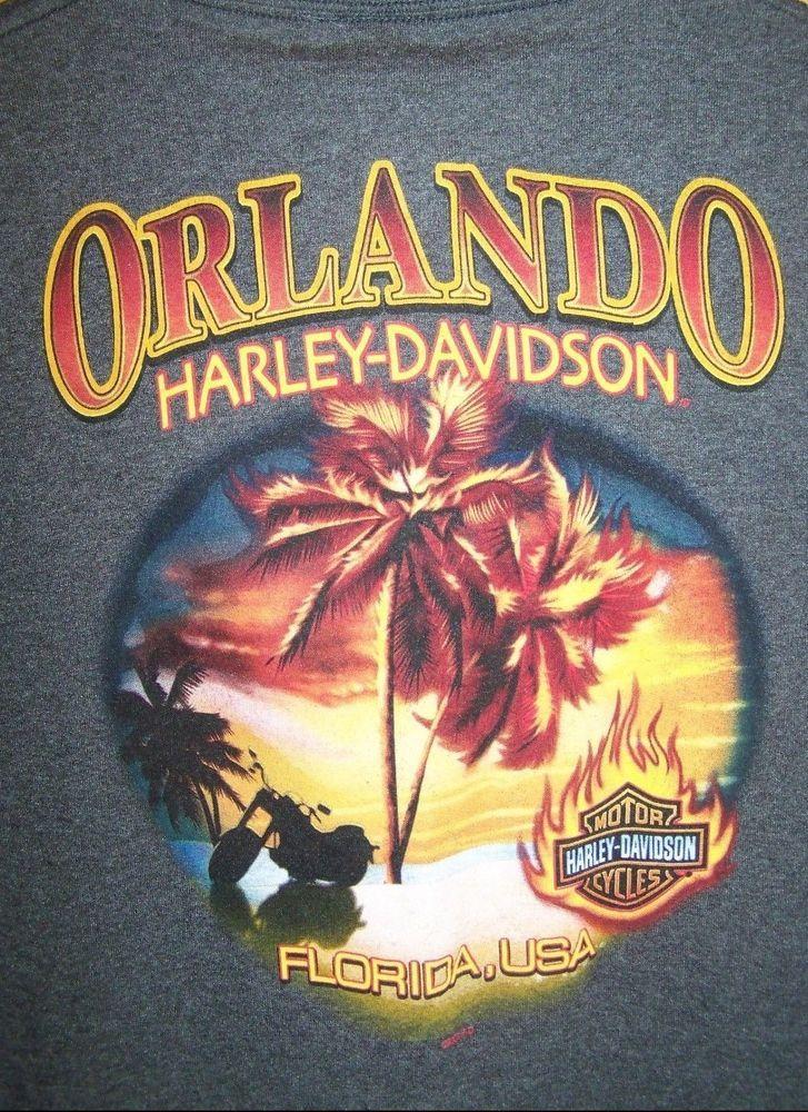 2009 Harley Davidson Orlando Florida Large Double Sided Tee T-Shirt  #HarleyDavidson #GraphicTee