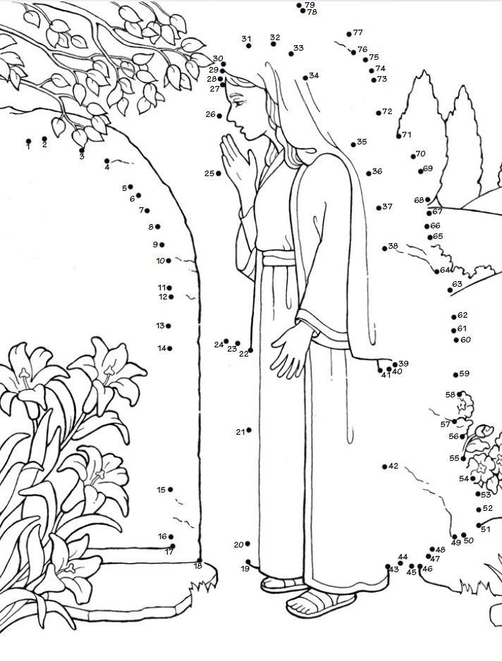 It is a graphic of Hilaire Bible Dot to Dot