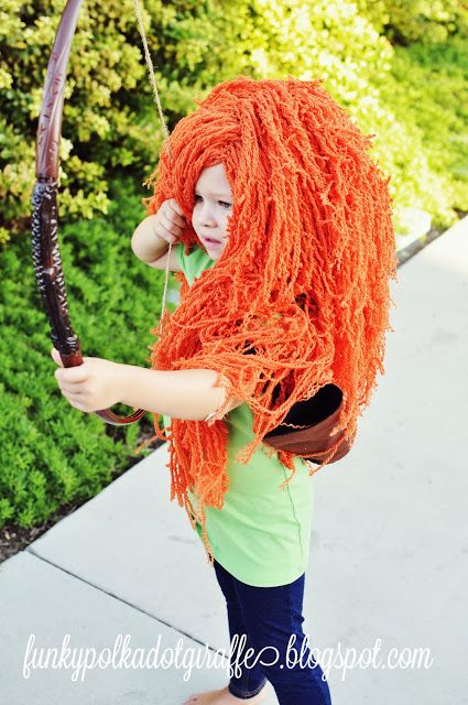 This Is An Amazing Yarn Wig Tutorial Yarn Wig Crochet Wig Merida Costume Wig