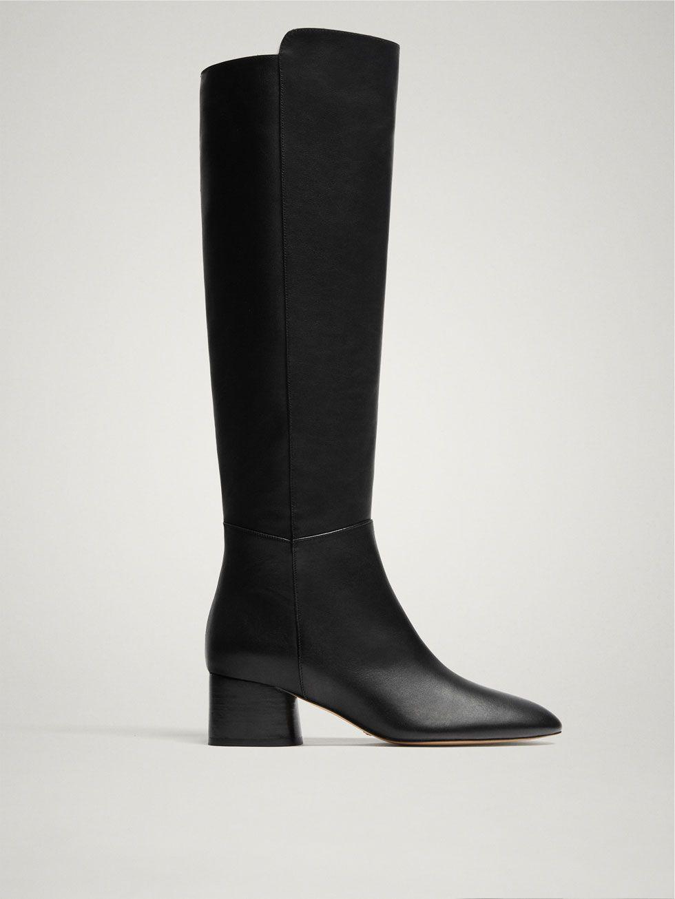 b6bd0749f725b BLACK NAPPA LEATHER BOOTS - Women - Massimo Dutti