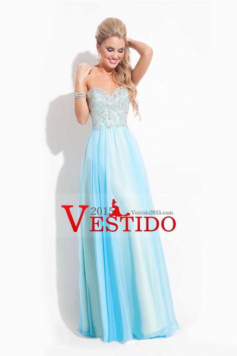 2015 vestidos de baile de novia con cuentas blusa A / Princesa gasa ...