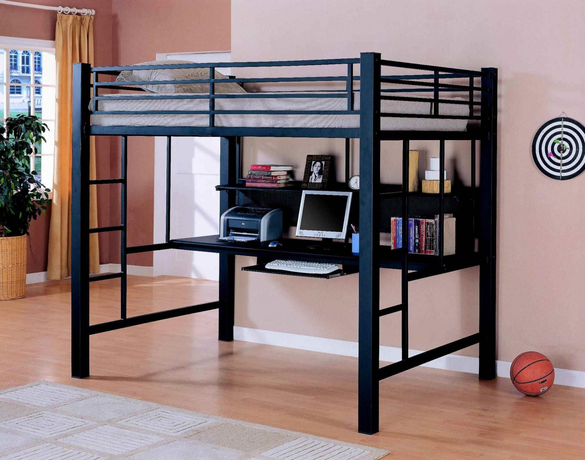 Pin by Annora on home interior | Bunk bed with desk, Loft ...