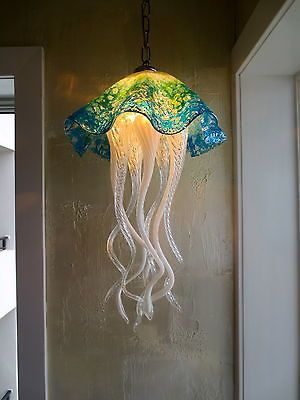 Hand Blown Glass Chandelier Jellyfish Light Art Glass Lighting