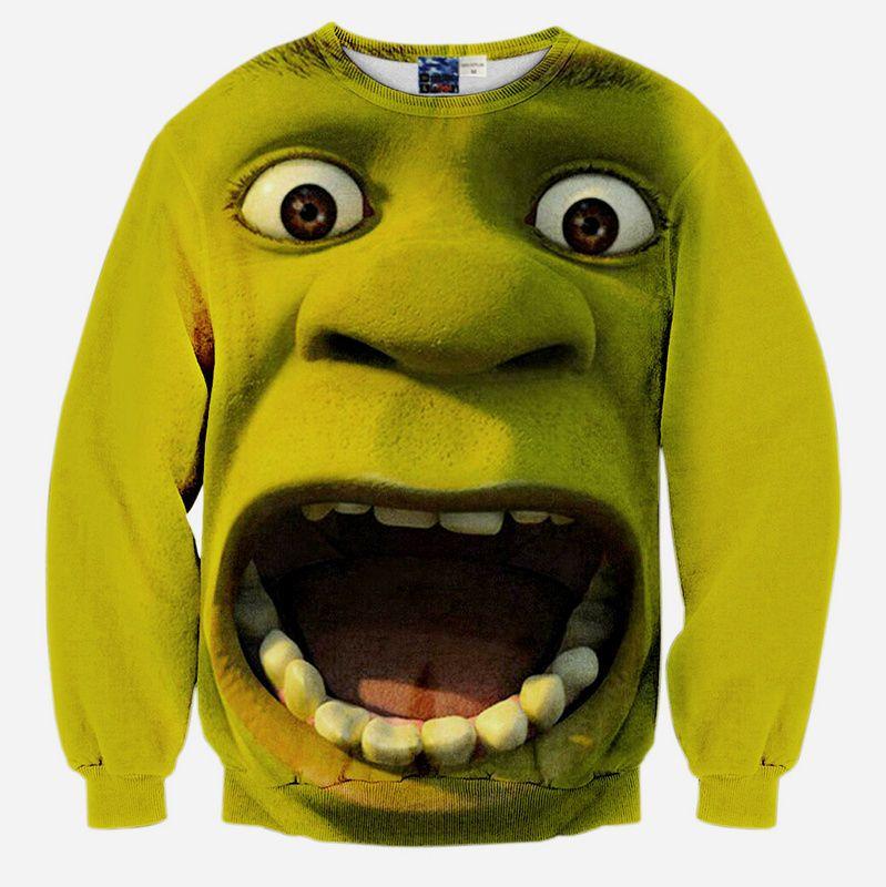3D Print Green Shrek Men Women Hoodies Sweatshirt Pullover Tracksuit T Shirt  Top 4968c8eae283