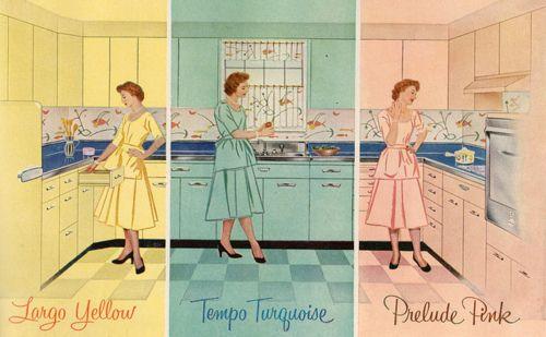 1950 S Kitchen Color Scheme And Layout Vintage Kitchen Decor Pink Kitchen Vintage Kitchen