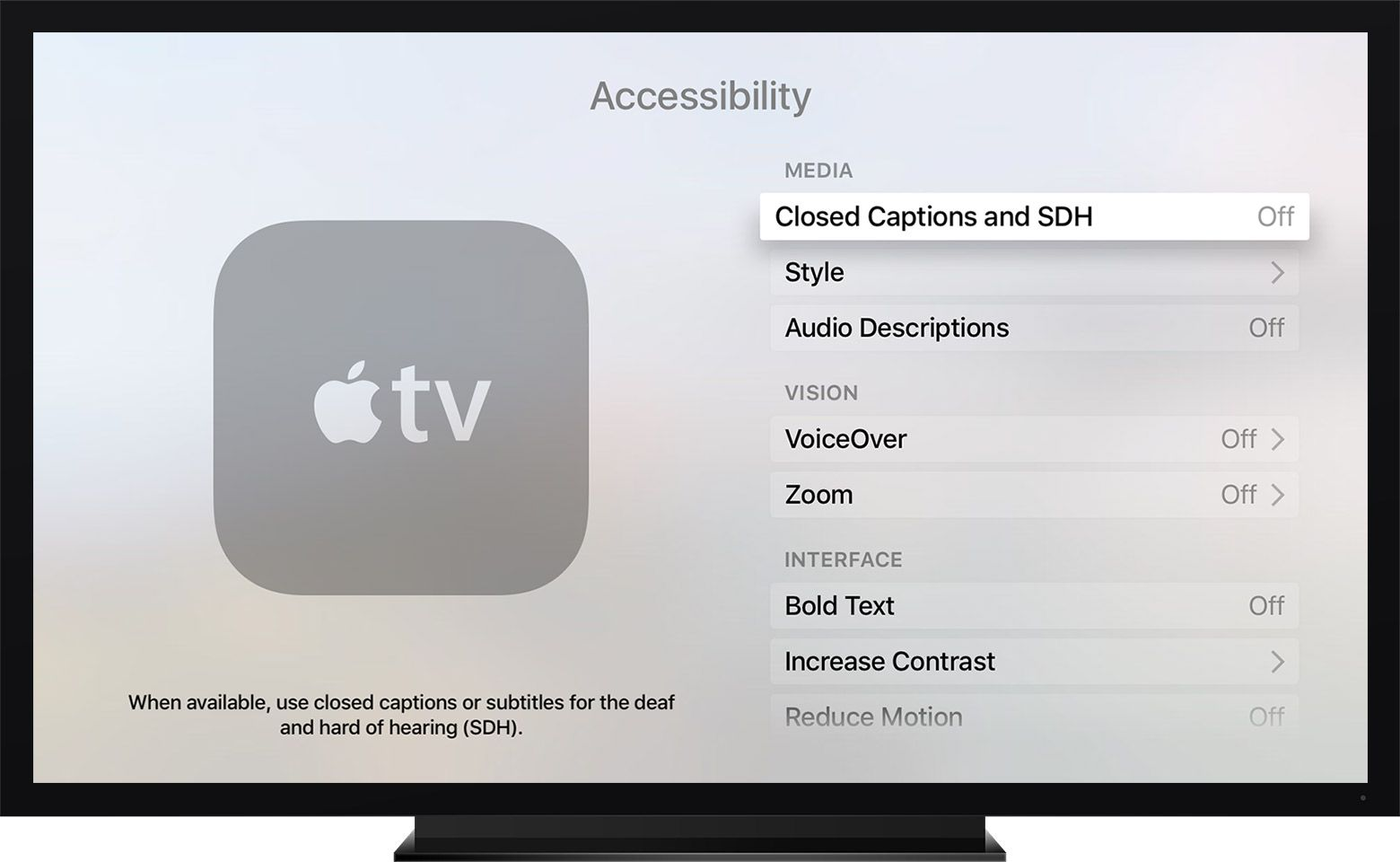 iTips: ••AppleTV (4): HOW to turn on/off SUBTITLES/captions•• tip by ...