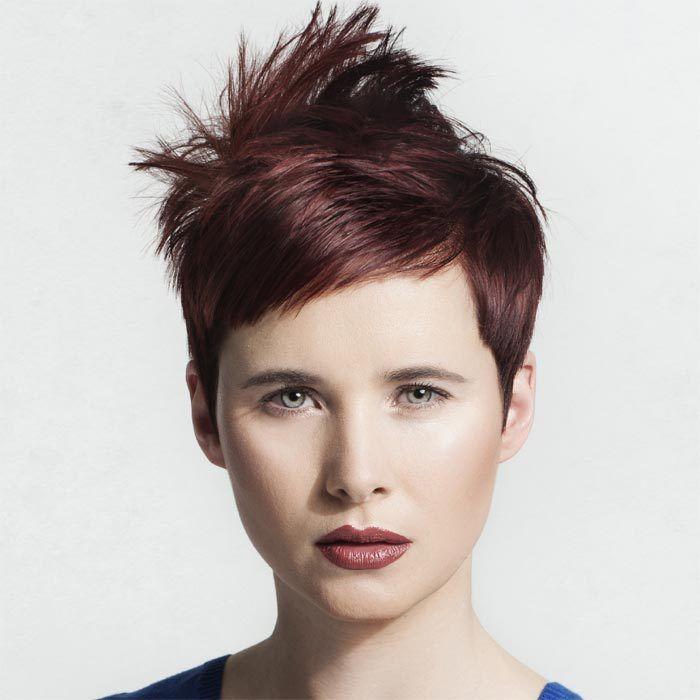 Coiffure cheveux courts INTERCOIFFURE Tendances