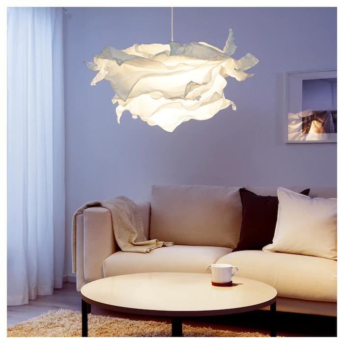 KRUSNING Taklampskärm vit 85 cm | Pendant lamp shade
