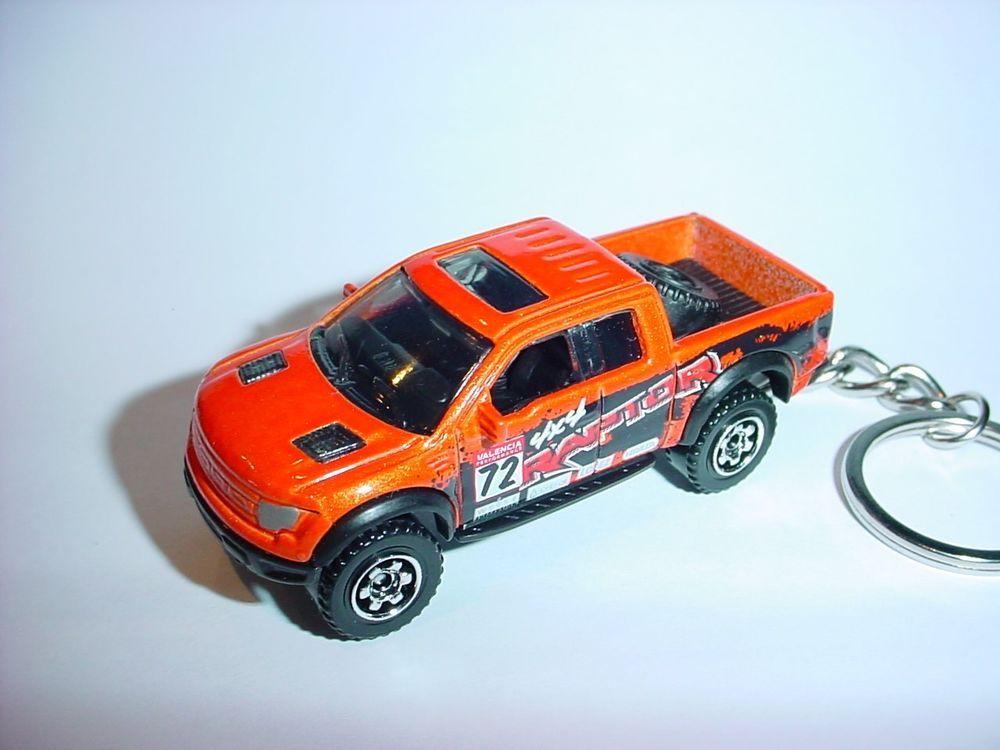 New Orange Ford F 150 Svt Raptor Custom Keychain Key Chain F150