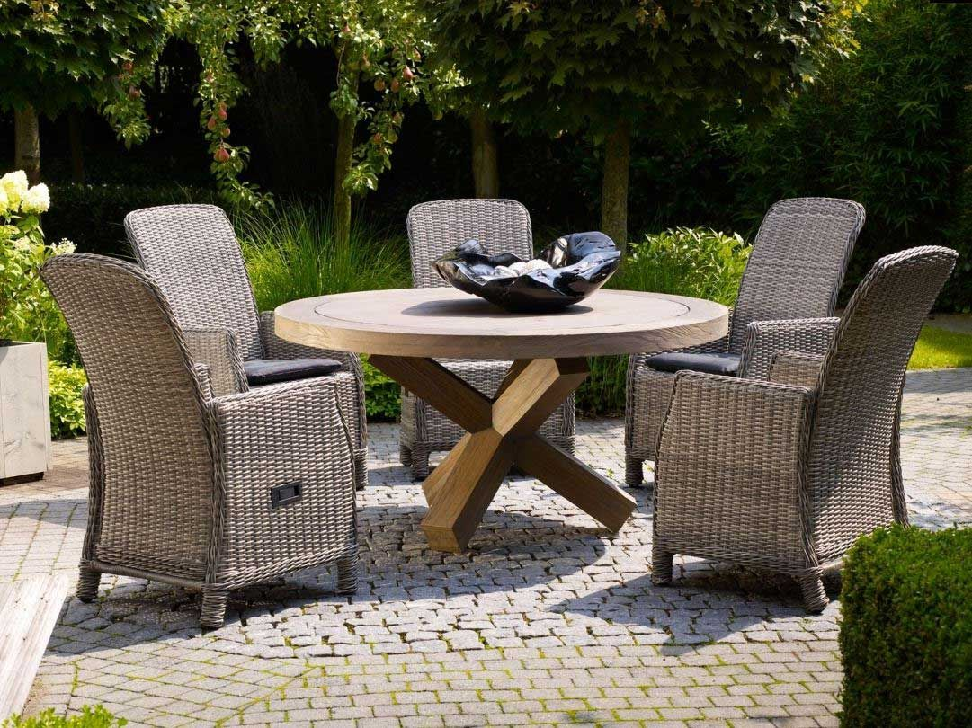 life garten essgruppe rattan teak riva armada kaufen im borono online shop life outdoor living. Black Bedroom Furniture Sets. Home Design Ideas