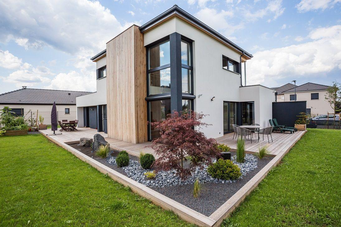 maison ossature bois basse consommation la maison bois par maisons architecture. Black Bedroom Furniture Sets. Home Design Ideas