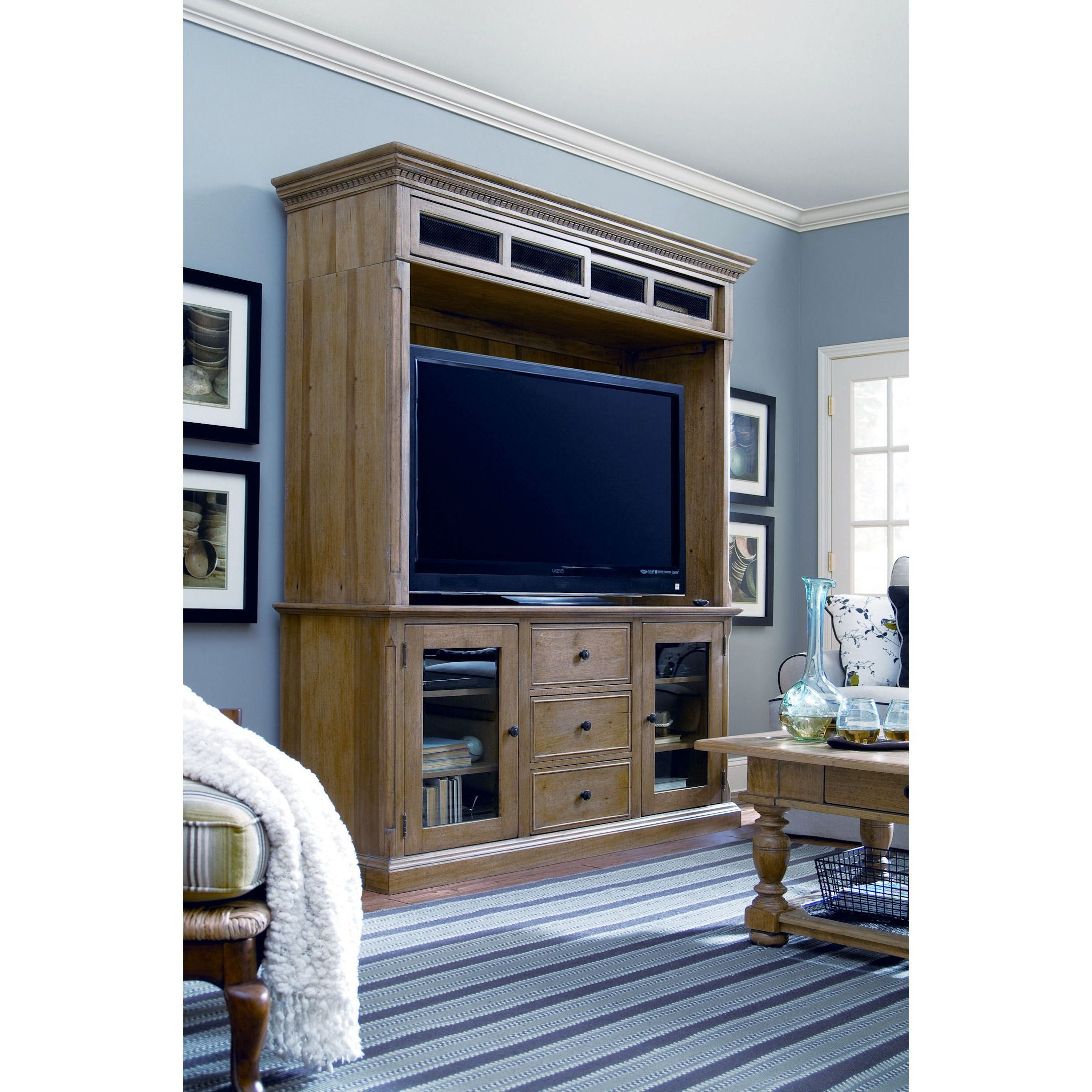 and cupboard console deen oatmeal brown entertainment down home pin paula furniture hutch