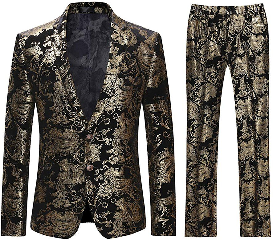 Mens Luxury Single Breasted Classic Blazer Business Jacket Suits Slim Fit One Button Vintage Dinner Suits Size M-XXXL