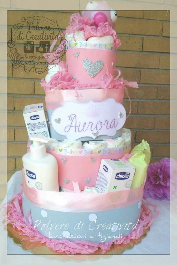 Torta di pannolini per la piccola Aurora - diaper cake