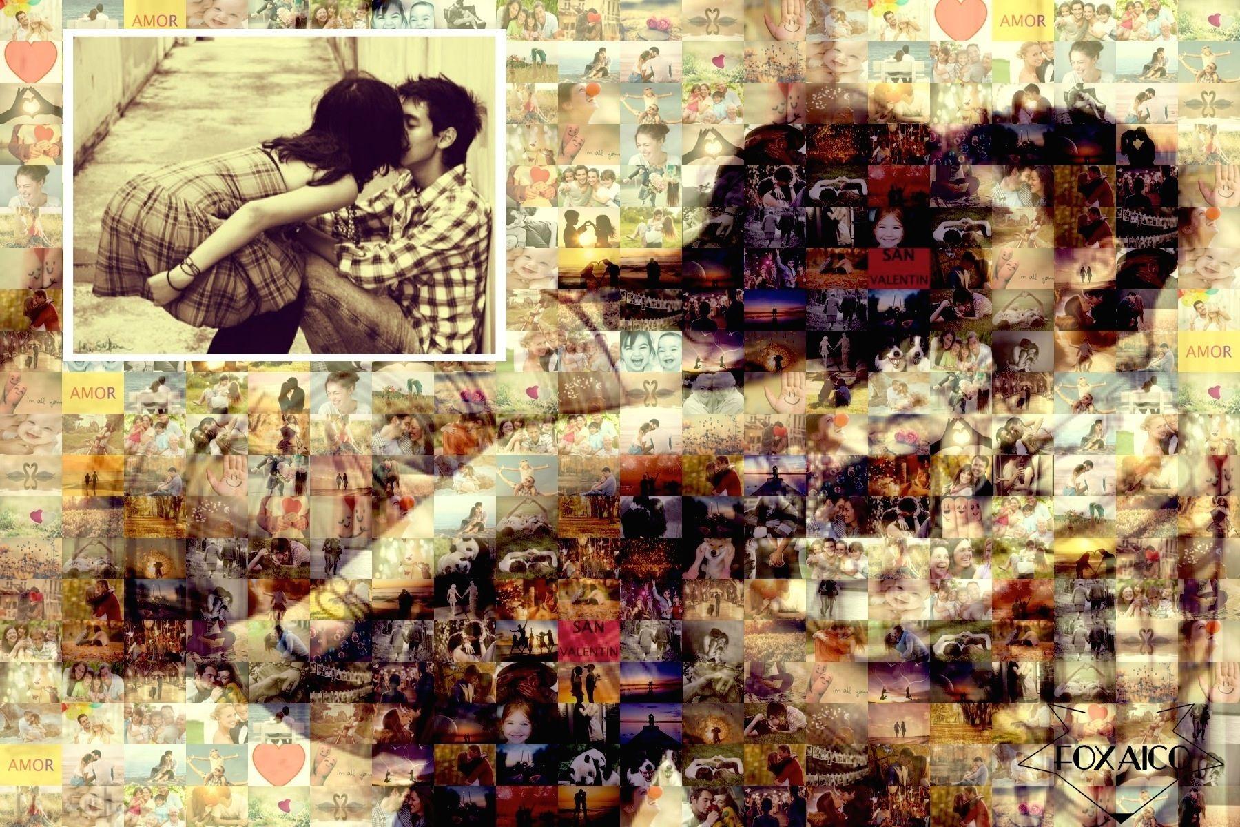 Mosaico fotográfico 400 imágenes