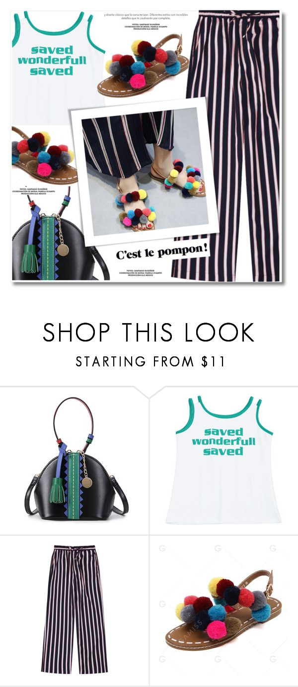 """Pompons"" by paculi ❤ liked on Polyvore"