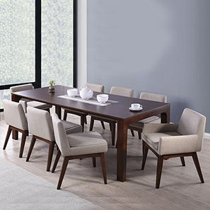 Arco  Leon 8 Seater Dining Table Set  Leon Dark Walnut And House Awesome Round Dining Room Table Seats 8 Design Ideas