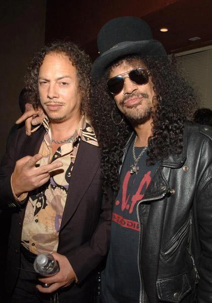 Kirk Hammet and Slash