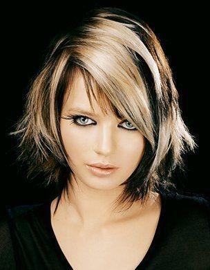 Modele coupe de cheveux carré effilé coiffure Coiffure