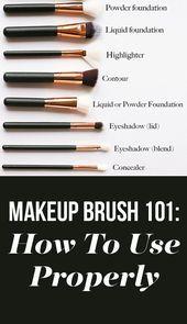Una guía para principiantes de cada pincel de maquillaje y para qué se utiliza …